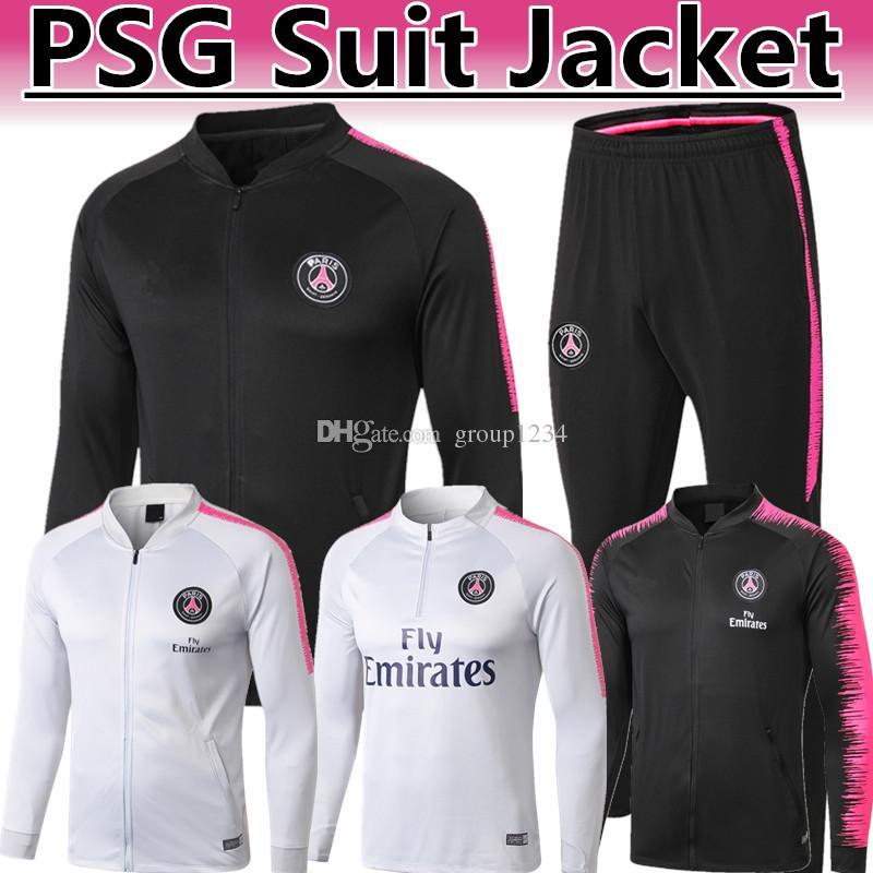b05a599ccfb6 2019 2018 19 NEW PSG CAVANI NEYMAR JR White Pink Half Zipper Style Tracksuit  2019 Thai Quanlity PARIS Mbappé Buffon Black Pink Suit Jacket From  Group1234