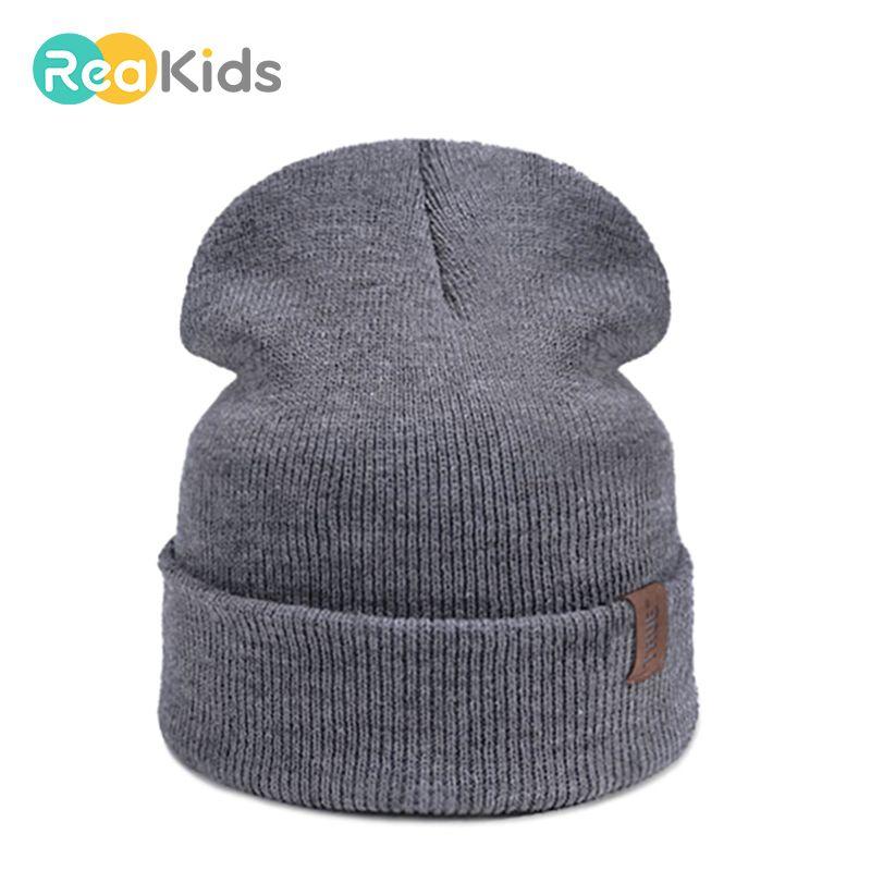 Compre REAKIDS 2018 Marca Bebé Algodón Sombreros Para Niños Niñas Niños  Invierno Cálido Sombrero Gorros Bebé Infant Toddler Hat Niños Niñas Cap A   36.5 Del ... b6257d3a5d2
