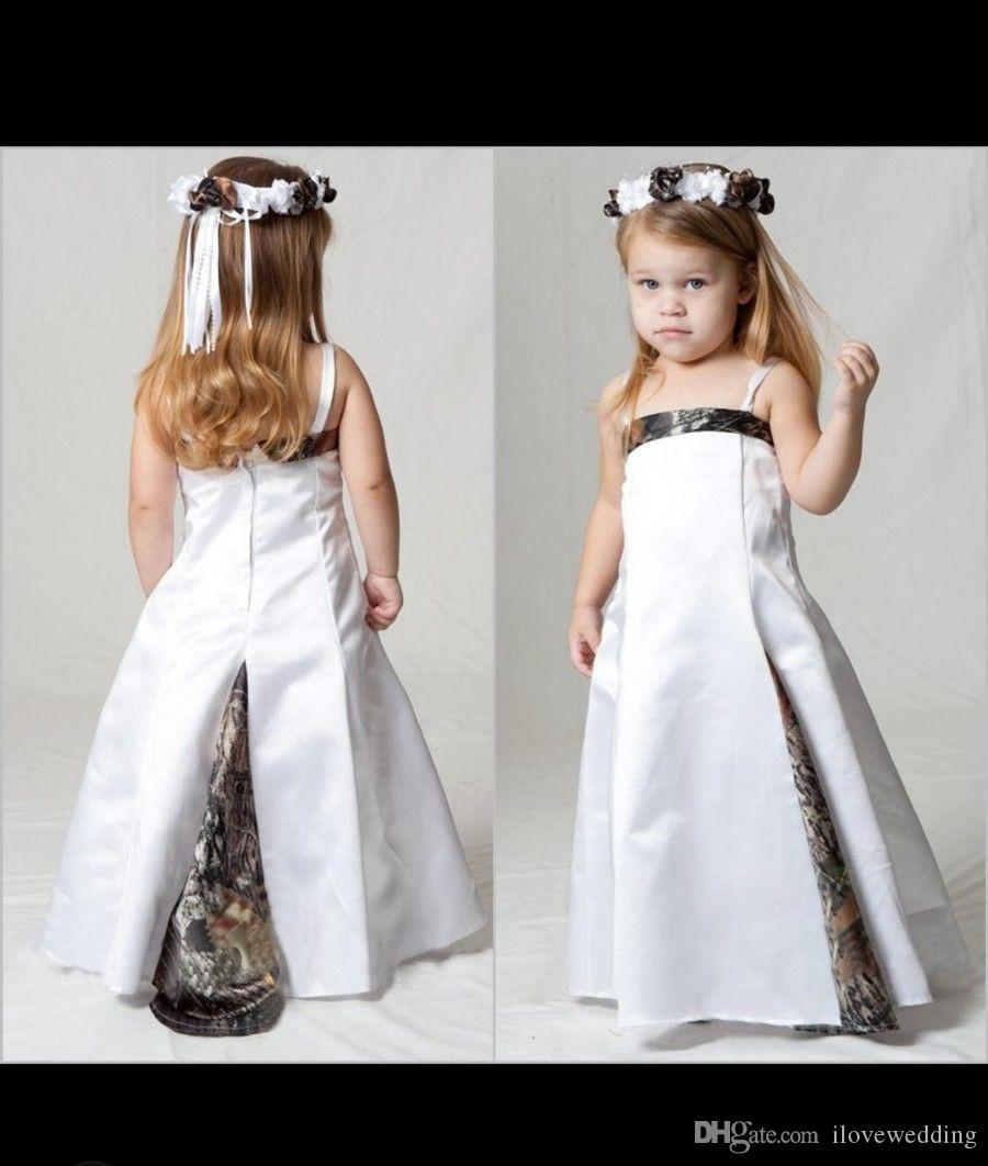 2018 New Arrival Hot Sale Camo Flower Girl Dresses Ball Gown Pick