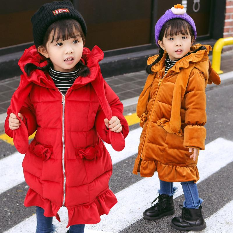 2273b44e403c4 Kids Girls Jacket 2018 Autumn Winter Wearcoats Boys Girls Coat Children'S  Warm Hooded Outerwear Infant Coat Cotton Clothes Toddlers Coats Cheap Kids  Coats ...