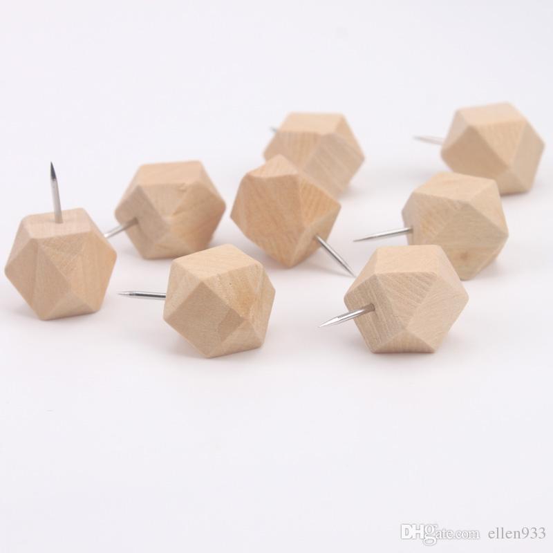 Large polygonal head craft drawing nail art creative map nail to nail wood pin