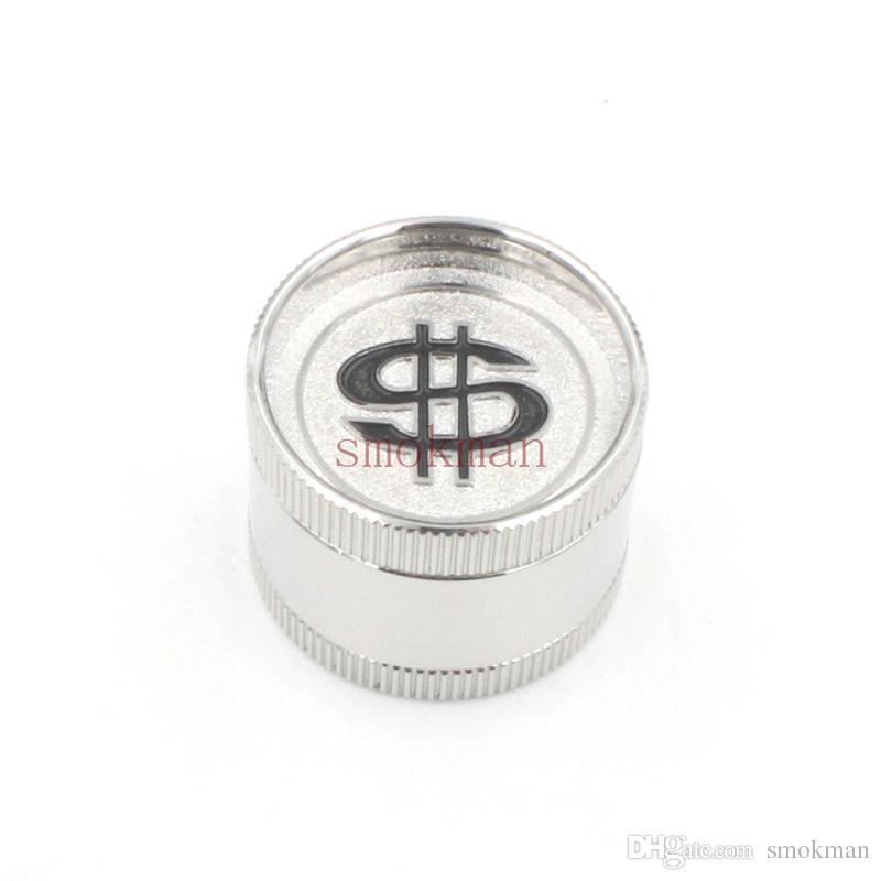 Herb Grinder Tobacco Spice Cracker 3 Layers 30mm Zinc Alloy Metal Herb Grinder with Display