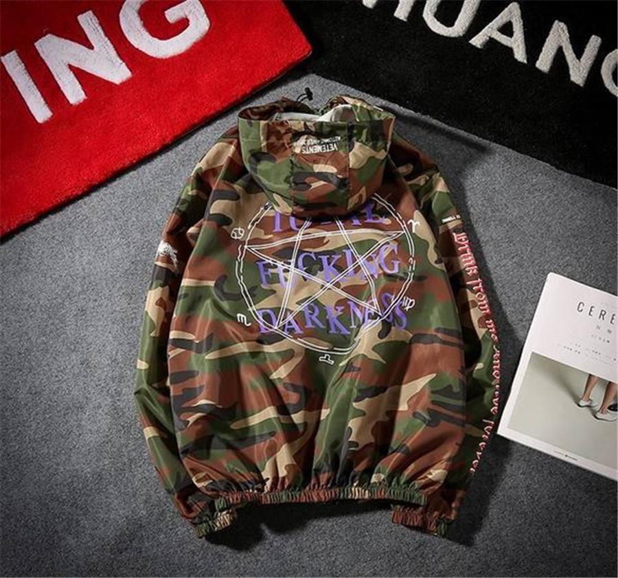 2017 Vetements Reversible Total F**king camouflage Hoodie Hoodie EXO  Chanyeol TAO Cap Hoodie BTS JIMIN Pullover Sweatershirt New