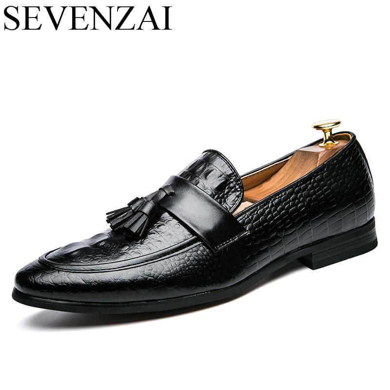 Mens Italian Leather Shoes High Heels Glitter Snake Skin Men Loafers Pointed Toe Dress Shoes Oxford Office Shoe For Man Brogues Men's Shoes Formal Shoes