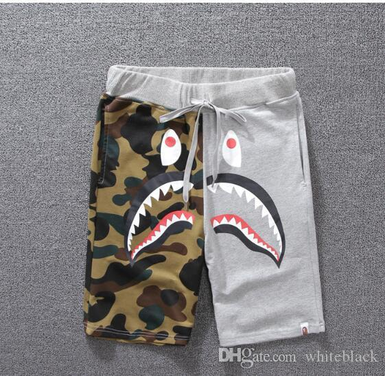 4c73bb94d50 2018 Designer Shorts Summer Mens Shorts Skateboard Shorts Cotton Blend Size  M-2XL Knee Length Closure Type Drawstring Mid Waist Summer Men s Shark  Shorts ...