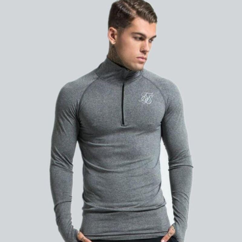 low priced 5e6f9 ef899 Sport Mann Hemd Jogger Running Gym Sweatshirt Herren Kleidung Herbst Winter  Langarm t-shirt Fitness Bodybuilding Männliches Hemd Top