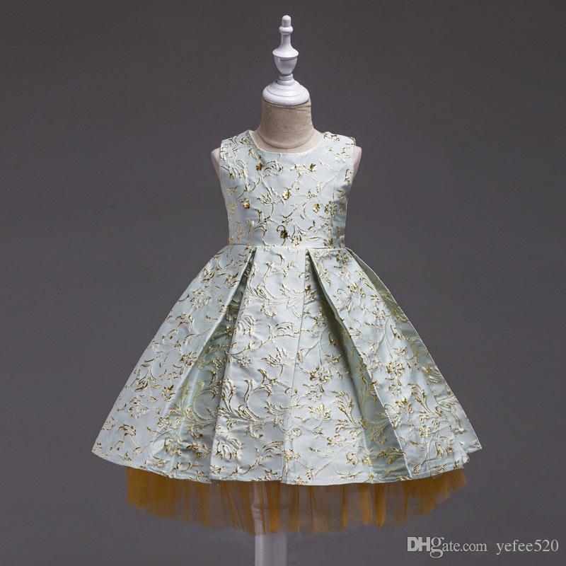 2018 Hot Sale Kid Fashion Princess Gown Birthday Formal Gown Wedding ...