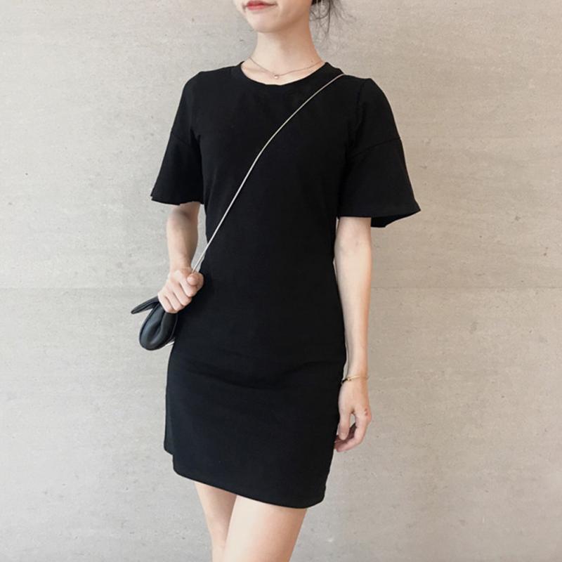 b24431ff2 Bodycon Waist Hollow Spring Autumn Dress Women Cusual Shorts Sleeve Sexy  Black Midi Dress Fashion Girls Dress White Dress For Teens Red And Black  Dresses ...