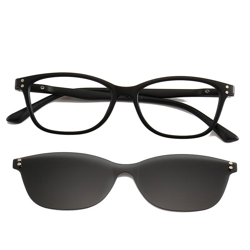 f19657a99bd Cubojue Clip On Sunglasses Polarized Driving Men Women Night Myopia Diopter  Driver Fit Over Eyeglasses Frame Glasses Mirrored Suncloud Sunglasses  Foster ...