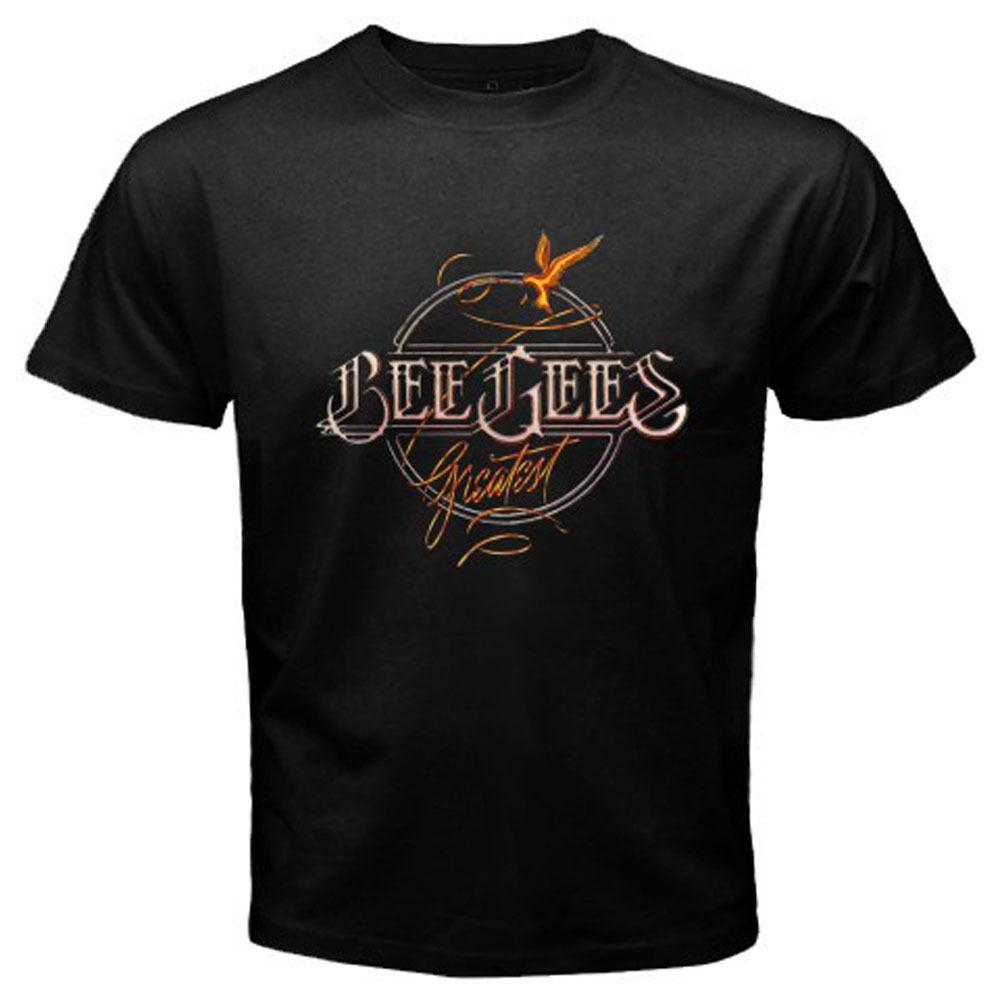be8969439 New The Bee Gees Greatest Hits Album Pop Rock Men s Black T-Shirt ...