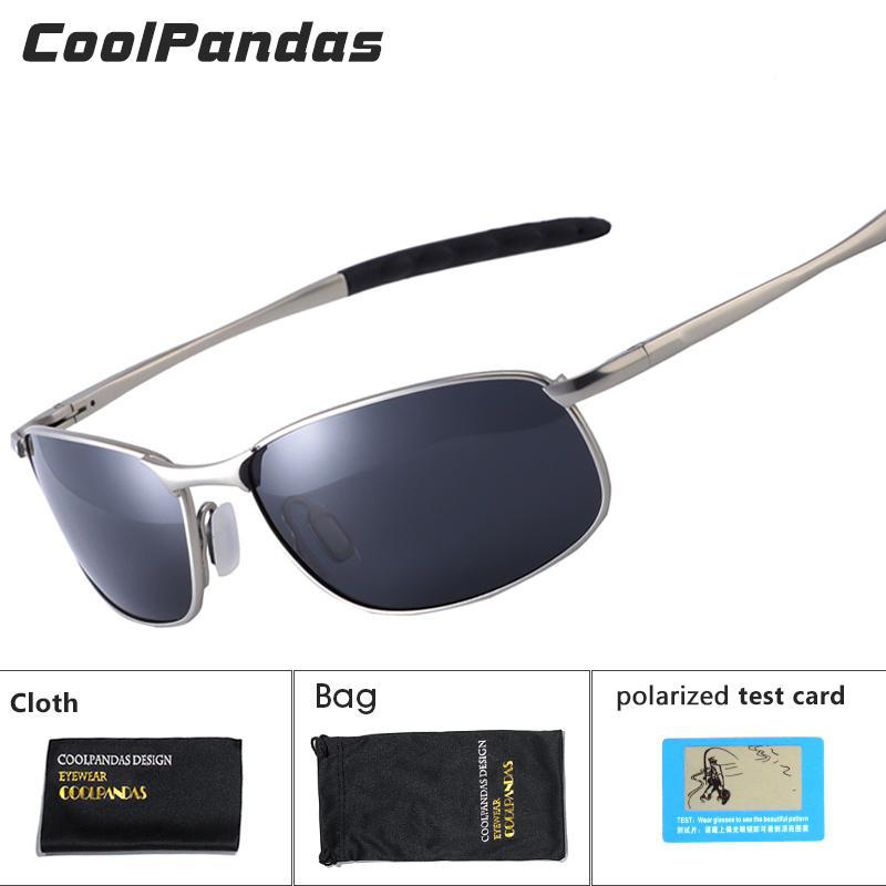 e5961eb10 Compre CoolPandas 2018 Polarizada Óculos De Sol Dos Homens Da Marca  Designer De Lente Pequena Óculos De Sol Dos Homens De Condução Óculos De Sol  Gafas ...