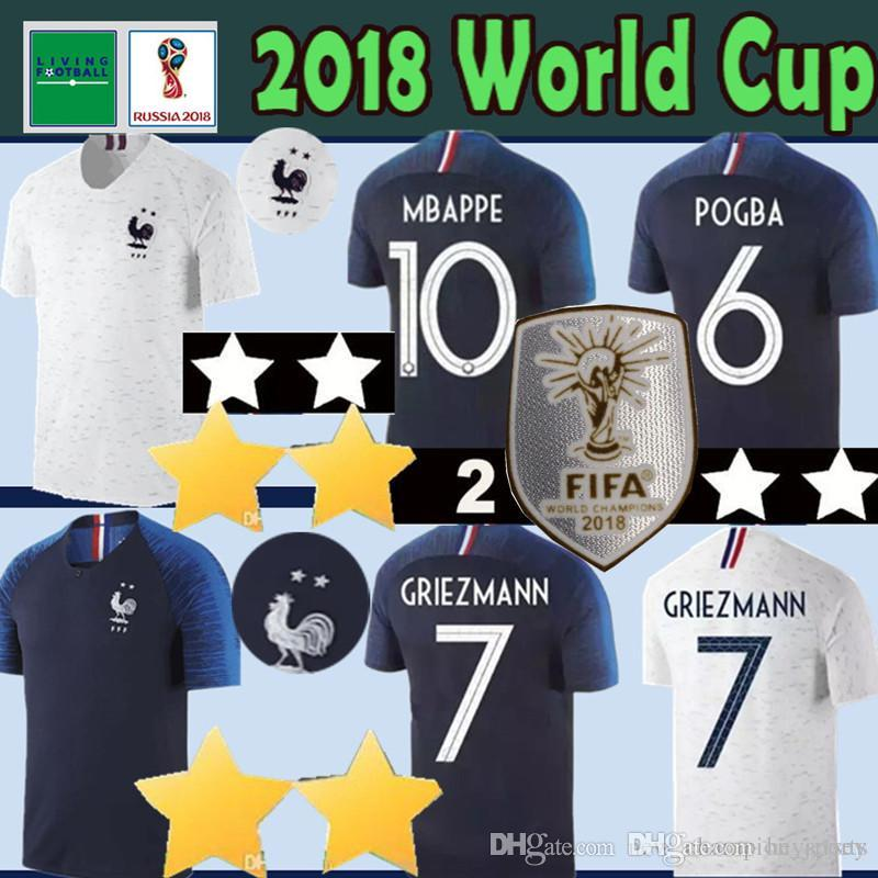 MBAPPE 10 POGBA  6 World Cup Soccer Jersey 2 Stars GRIEZMANN  7 Soccer  Shirts PAYET 8 DEMBELE 11 GIROUD 9 THAUVIN Football Shirts Thai Quality  Free Shipping ... 0bfe15a93