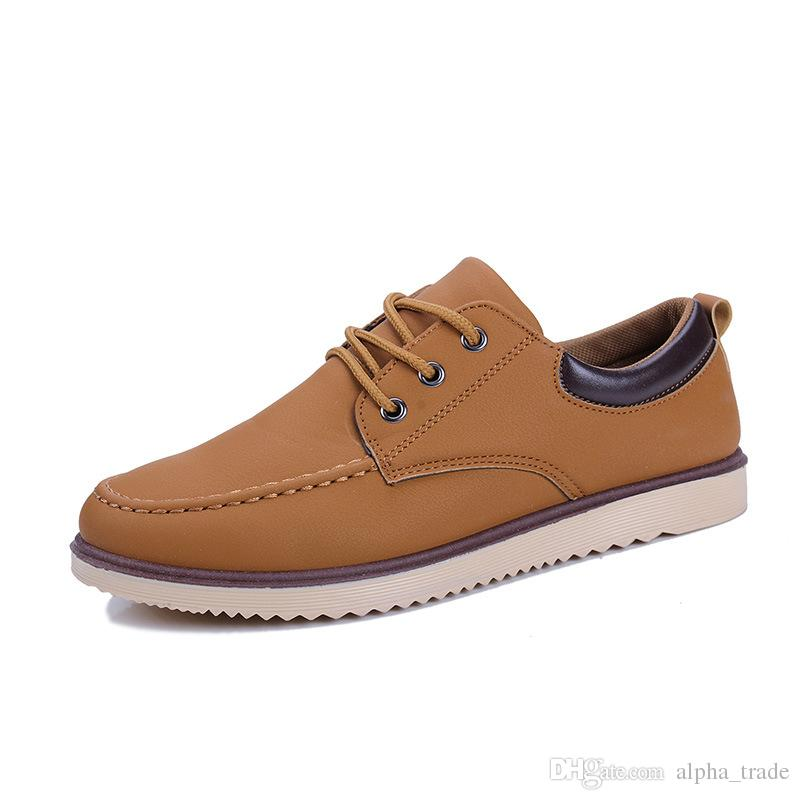 uk availability 05f84 0ac3c Scarpe da uomo antiscivolo da uomo di alta qualità autunno e inverno nuove  scarpe da uomo scarpe inglesi per il tempo libero selvaggio versione ...