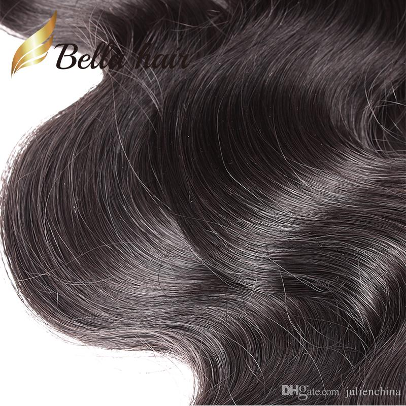 Bella Hair® High Lemity Cheveux Humains 3 Bundles 9A Teins Natural Couleur Corps Wave Extensions Julienchina