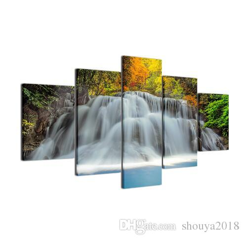 Modern Spray Painting Panel Waterfall Wall Pictures Home Decor Life Oil Room Art Portait Paintings HD Print Stickers