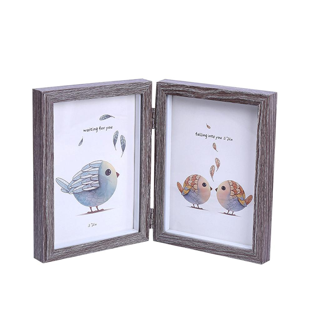 6x8 Inch Fashion Simple Wooden Picture Frame Double Rectangle Photo ...