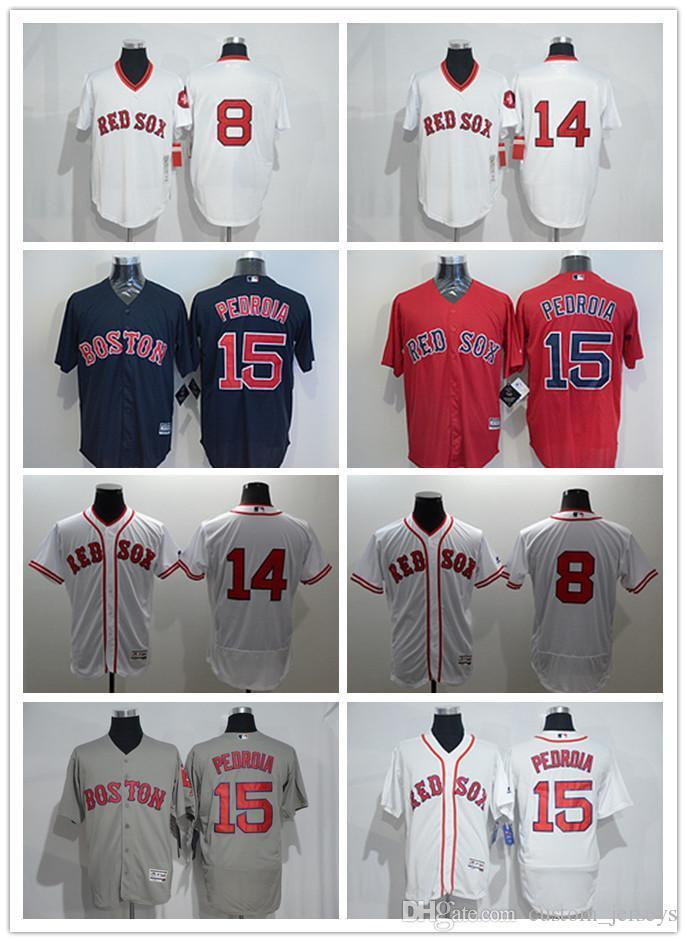 purchase cheap 67681 afba8 custom Men women youth Majestic Red Sox Jersey #8 Carl Yastrzemski 14 Jim  Rice 15 Dustin Pedroia Home Blue Red Baseball Jerseys