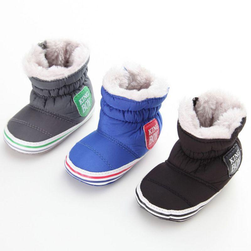 WINTER Baby Girl Boy Winter Snow Shoes Newborn Infant Keep Warm Soft Bottom  Anti Slip Boots Toddler Plus Velvet Booties 0 18M M2 Little Girls Cowgirl  Boots ... 2da136d030bd