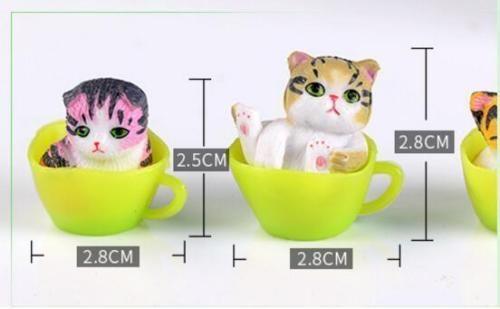 12 шт./лот миниатюрные террариумы сказочный сад декоративные смолы кошка фигурка ремесло подарок орнамент террариум аксессуары
