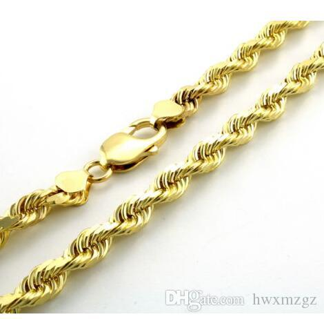 ba380e9c867a Compre 10k Chapado En Oro Amarillo GRUESO De 7 Mm De Corte De Diamantes  Cadena De Cadena De Collar De Hombres 24 A  16.09 Del Hwxmzgz