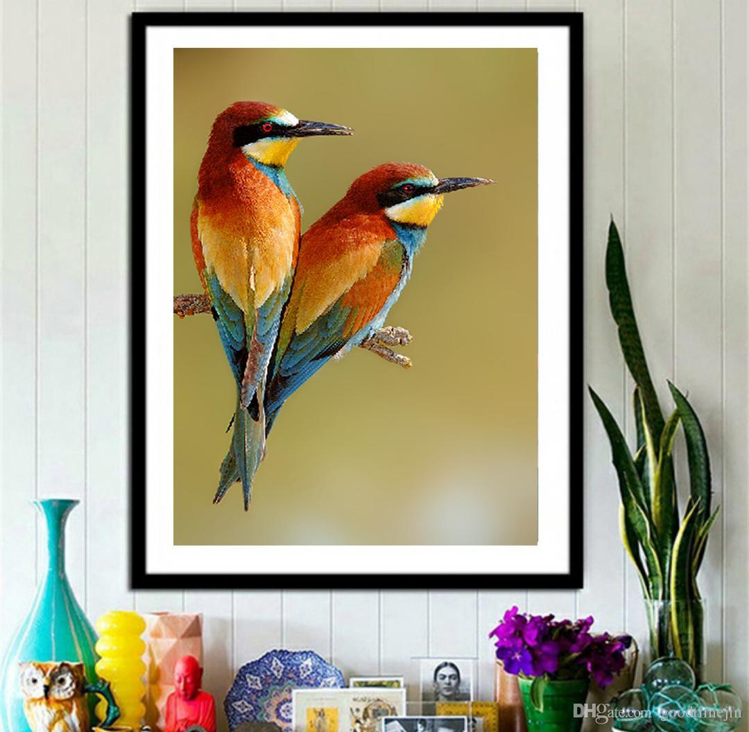 2018 Animal Bird Painting 5d Diamond Cross Stitch Family Home ...