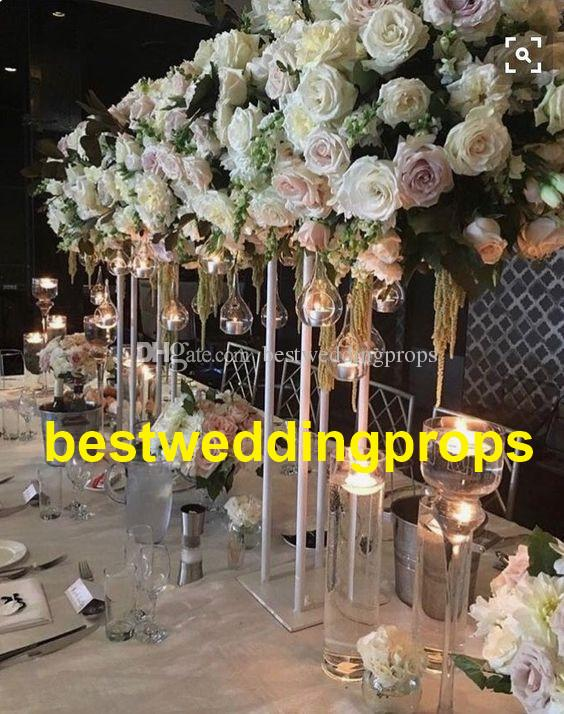 New Style Wholesale Tall Wedding Flower Stand Centerpieces Metal