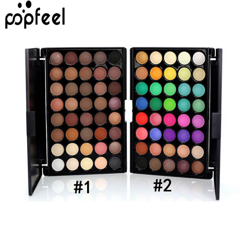 40 Color Matte Eyeshadow Palette Earth Colors Shimmer Glitter Eye Shadow Power Set Cosmetic Makeup