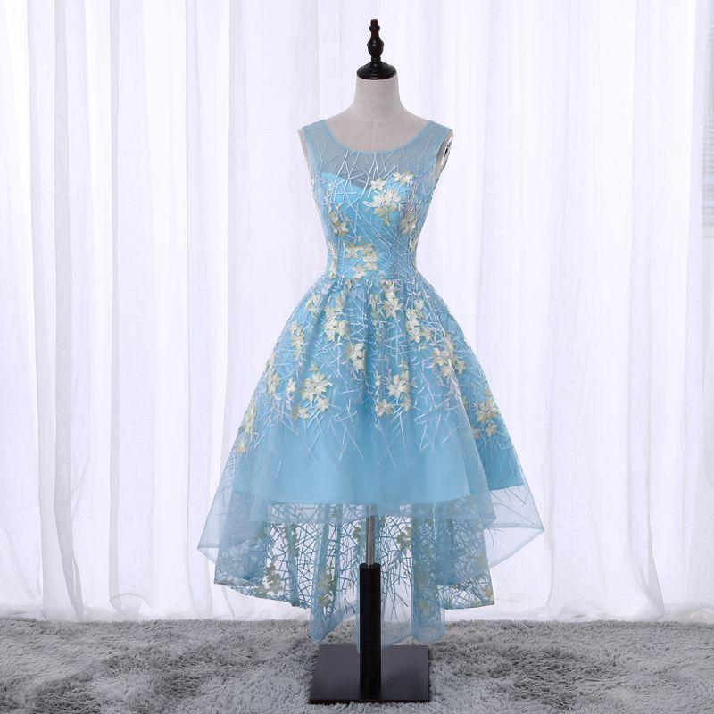 d1ee82e51 ... High Low Long Embroidered Evening Dress Vestido De Festa Sexy Satin  Prom Gowns Birthday Dresses Burlington Coat Factory Dresses From  Girl lovedress