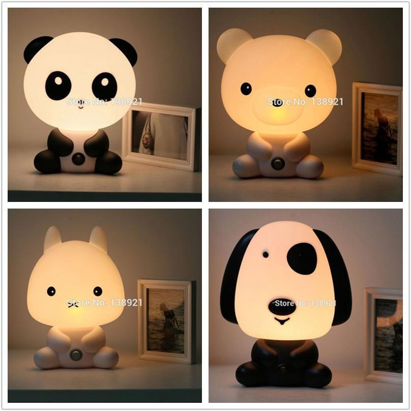 Lapin Us Plug Ue Lampe Panda Room Sleeping Lamp Table Night Bear Chevet Lampes Nuit Avec Chien Light De Forme Baby XZkiOuP