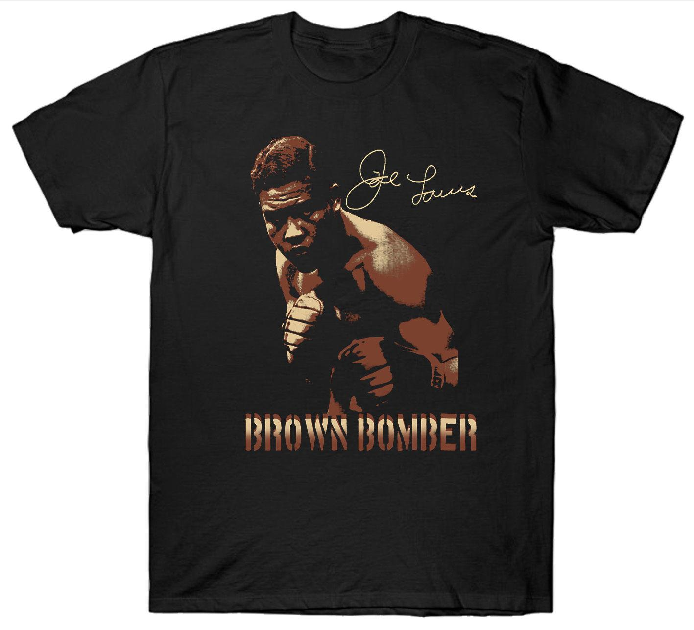 best sneakers 222c7 685a3 JOE LOUIS T SHIRT BOXER BOXER LEGEND GUANTI BOMBER MARRONE