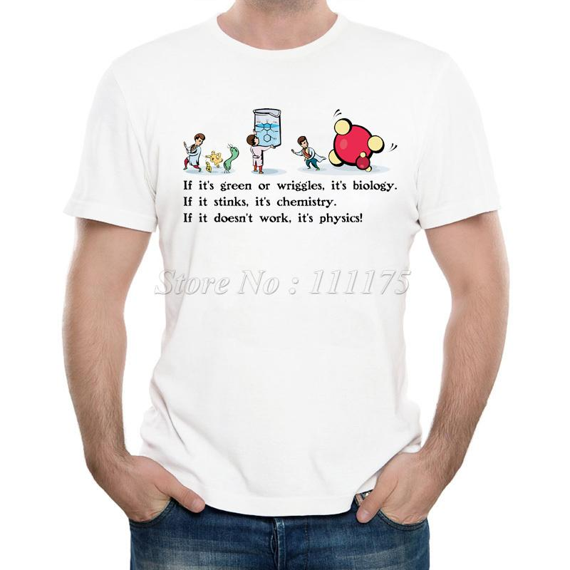 6e5dd2bf 2018 Men's New Funny Biology Chemistry and Physics Printed T Shirt Summer  Cool Design Tops Soft Short Sleeve Tee