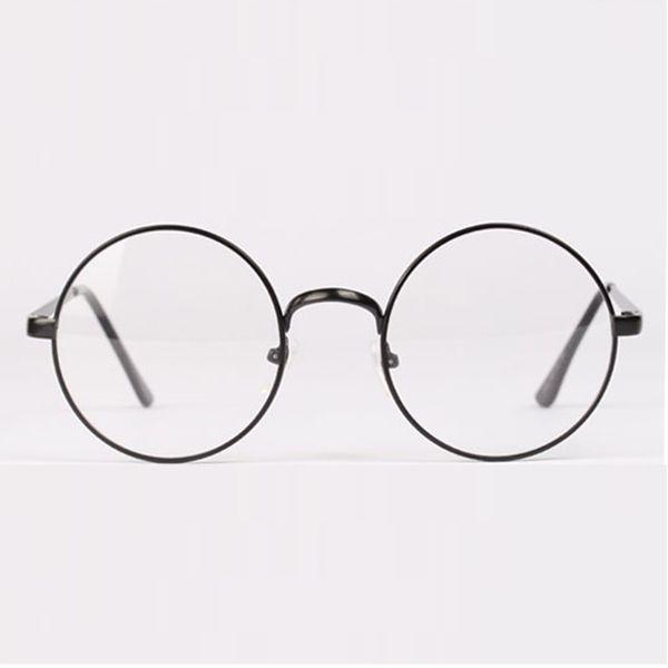 cf9f6ab9a3 Occhiali da vista con lenti rotonde di moda retrò in metallo con montatura  in metallo unisex