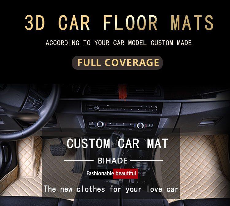 Wholesale Custom Car Floor Mats for mercedes benz c300 glk 350 gla gle ml350 w212 w204 3D Luxury Carpets Alfombra Coche Tapete Carro