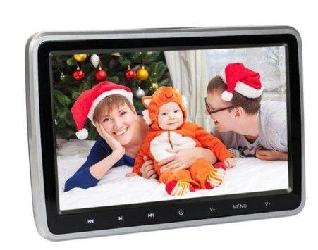 10 Polegada HDMI Monitores Monitor de Encosto de Cabeça Do Carro HD Tela LCD Digital de áudio do carro FM Encosto de Cabeça do carro DVD Player presentes de natal
