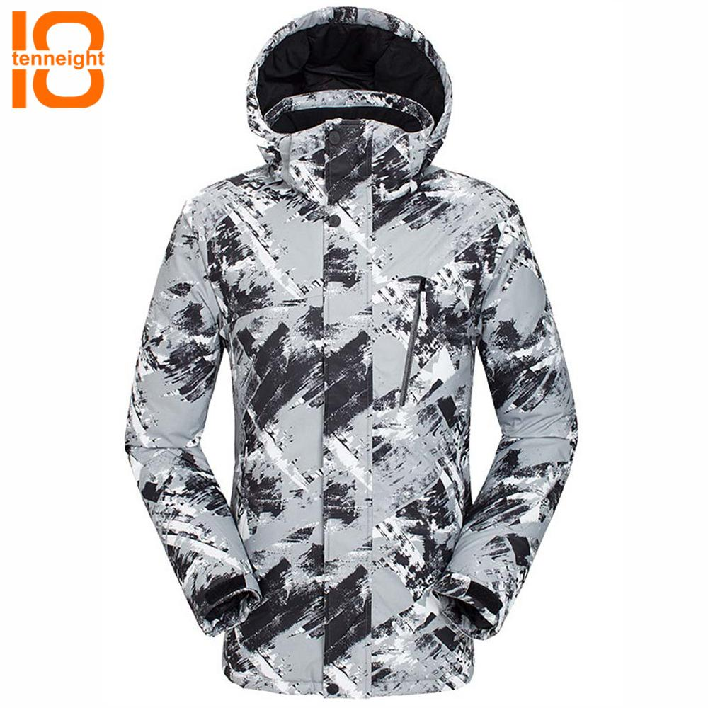 TENNEIGHT Men Ski Jackets windproof Waterproof warm Snow Snowboard jacket Outdoor hiking camping Coats Male Skiing Clothes