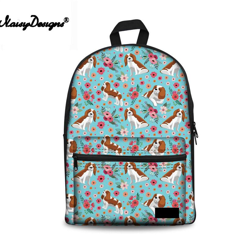 d8a28991fb Kpop School Bag For Kids Cute Dogs Printing Schoolbag Women Brand ...