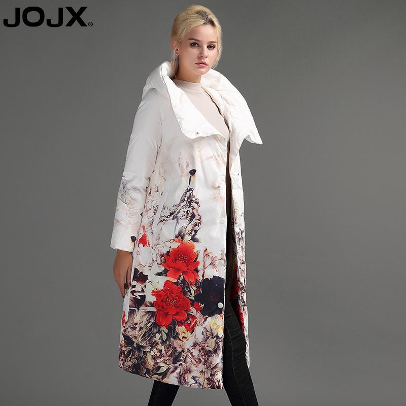fe93bde42 JOJX Flower Print thick Parkas women winter jacket 2018 Long Brand women  coat winter Down Jacket Fashion Warm Female coats S919