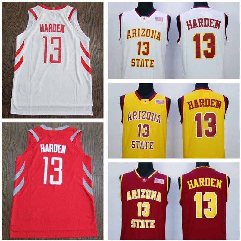 d30b282770b ... purchase ncaa arizona state james harden jersey red white yellow 13  harden college jerseys 100 stitched