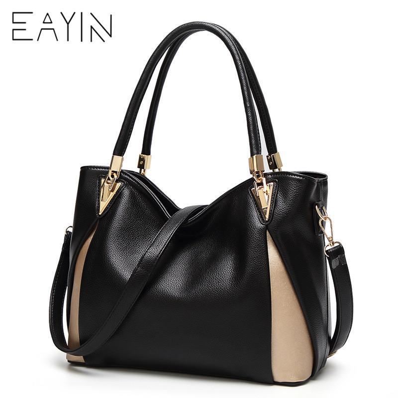 dbcb8f501e79 2019 Fashion EAYIN Genuine Leather Handbag Women S Shoulder Bag Large  Capacity Bags For Girls Messenger Bag Women S Big Bolsos Mujer 2018 Shoulder  Bags For ...