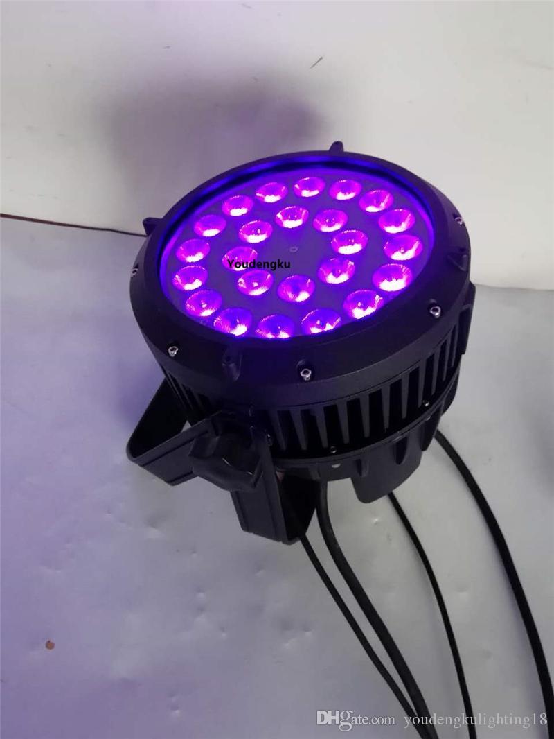 2 parça 24x18watt rgbwa uv dörtlü led par kutular su geçirmez led par can ip 65 led par ışık