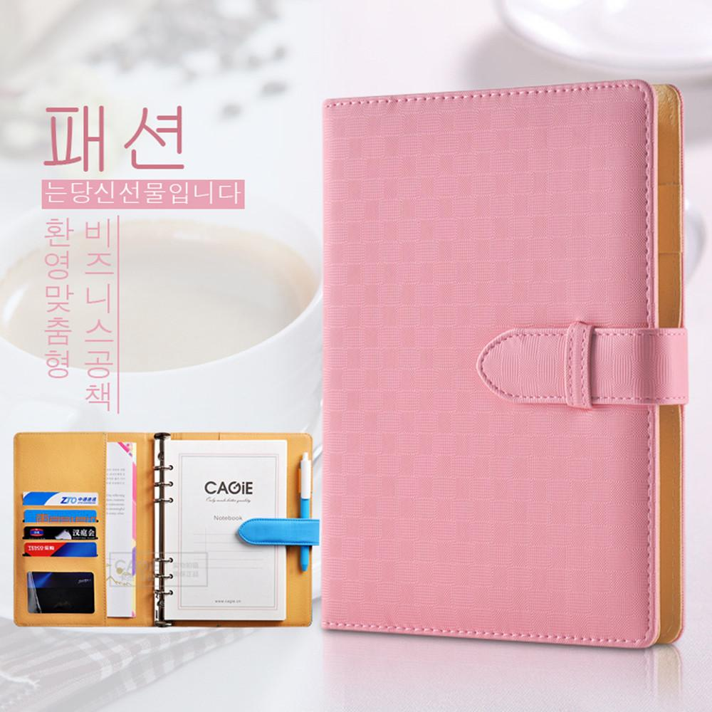 Korean A5 Coil Spiral Notebook Notepad Top Leather Notebooks and Journals  Spiral Filler Paper A5 the Office Supplies Wholesale