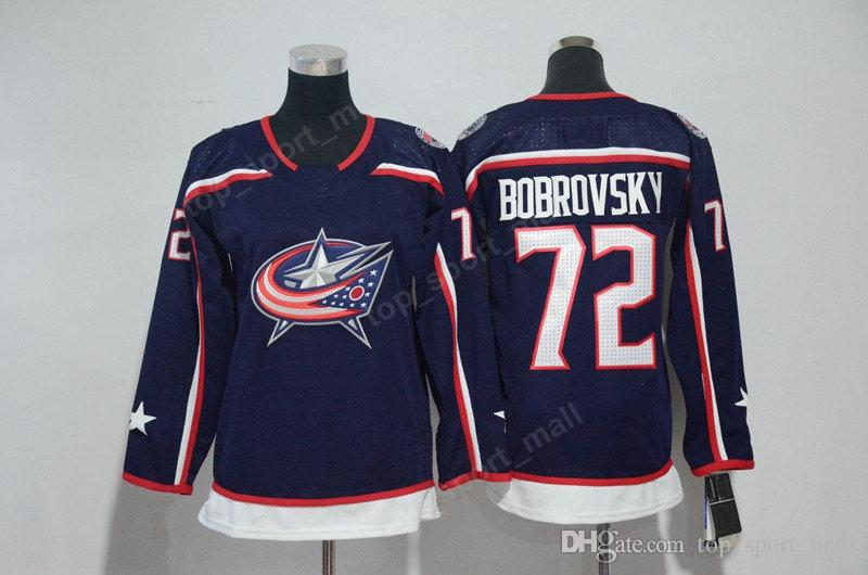 2018 AD 72 Sergei Bobrovsky Jersey Columbus Blue Jackets Men Woman Youth 71 Nick Foligno Women Ice Hockey Jerseys Kids Man Stitched