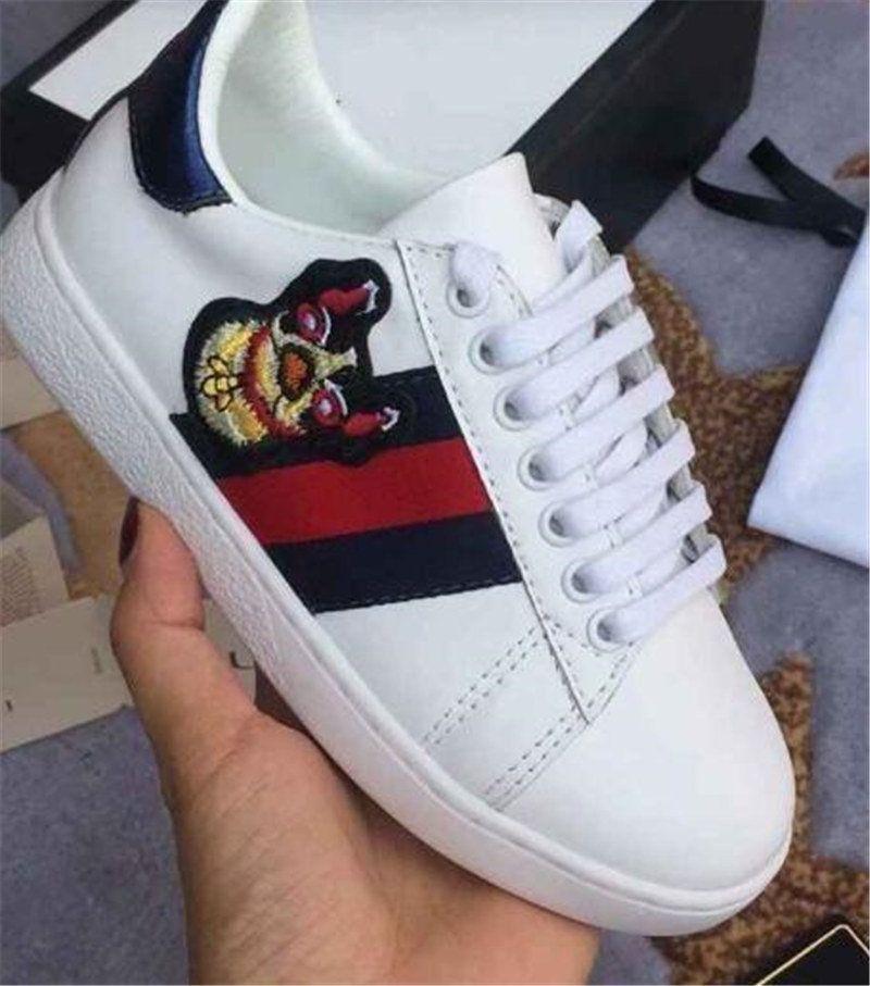 Animal Blancos Lentejuelas Adorno Compre Niños Clásico Para Zapatillas De Azul Rayas Patrón Zapato Zapatos Talón Estrenar Rojo Diseñador Niños Moda A YcPYTW