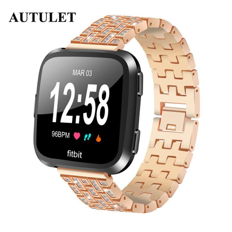 Compre Fitbit Versa Bandas De Repuesto Reloj Correas Mujer Hombre Pulsera  De Acero Inoxidable Correas De Pulsera Precio A  28.55 Del Rivelchang  68087fb3e7d5