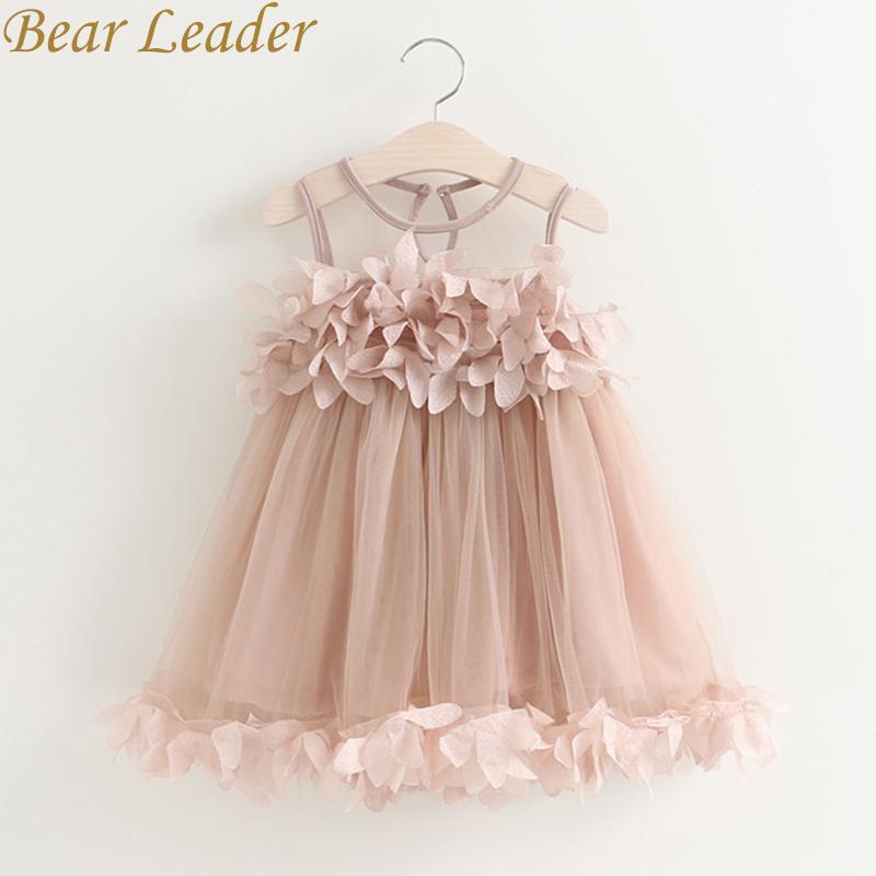 37ff8f19eb7 Girls Dress 2018 New Summer Mesh Girls Clothes Pink Applique ...