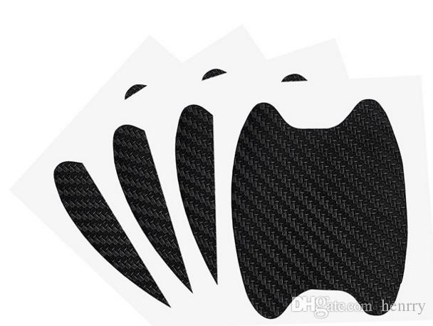 New Car Door Handle Sticker Car Hand Cover 3D Carbon Fiber Wrist Sticker Scratch Stickers