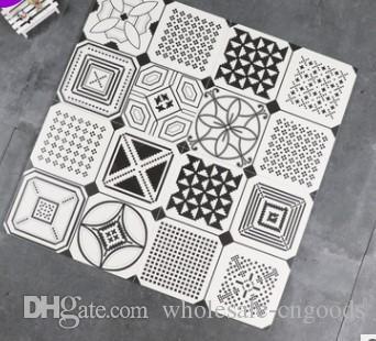 Nordic Simple Black And White Tiles 300 300 Living Room Toilet Art