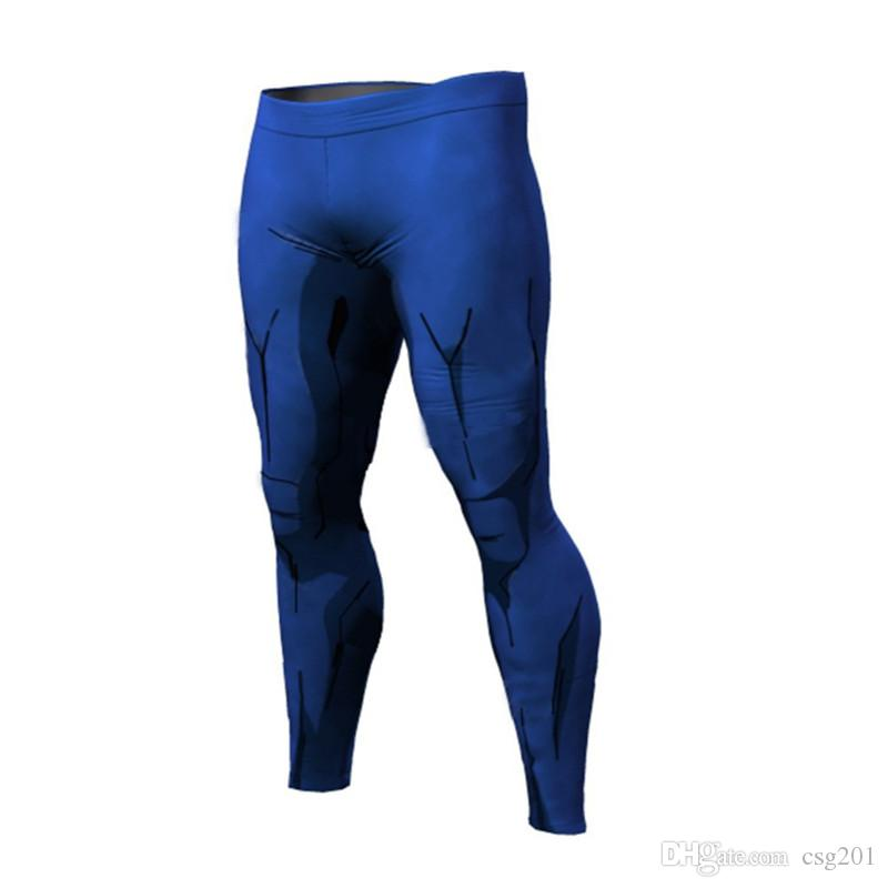 Fashion Compression Tights Dragon Ball 3D Shorts Pants Fitness Leggings Men Slim Fit Joggers Workout Trousers Sports Leggings Underpants