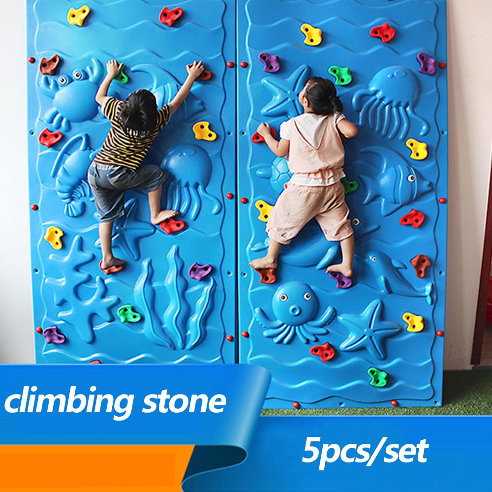 Wholesale Outdoor Toy Plastic Climbing Wall Rock Holds Set Kits Rock ...