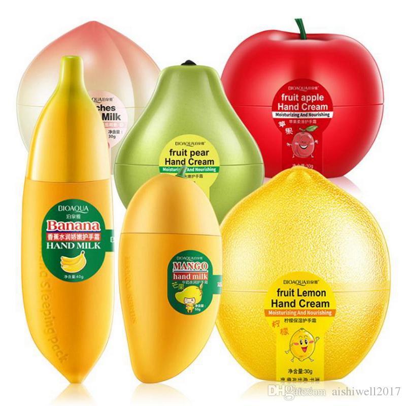 BIOAQUA Banana Milk Hand Creams Peaches Mango Fruit Moisturizing Nourish  Hand Care Lotions Handcreme Skin Defender Skin Care Cream Products
